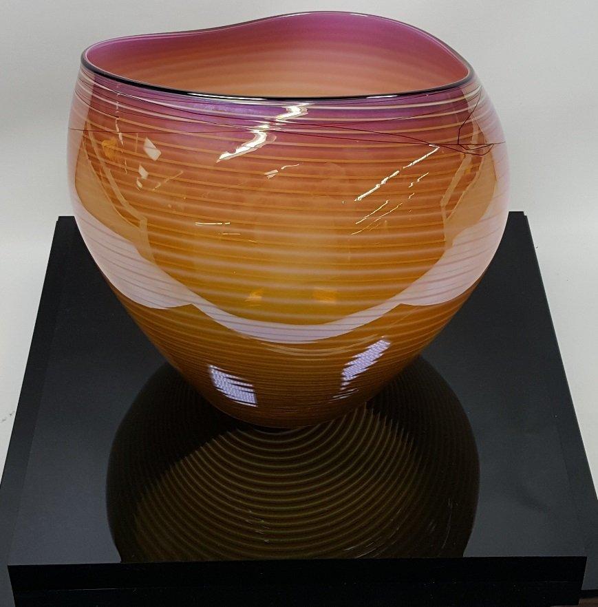 *DALE CHIHULY ART GLASS BASKET - 5