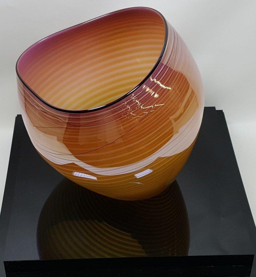*DALE CHIHULY ART GLASS BASKET - 6