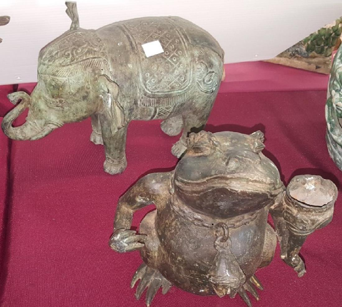 *4 CHINESE METAL SCULPTURES - 3