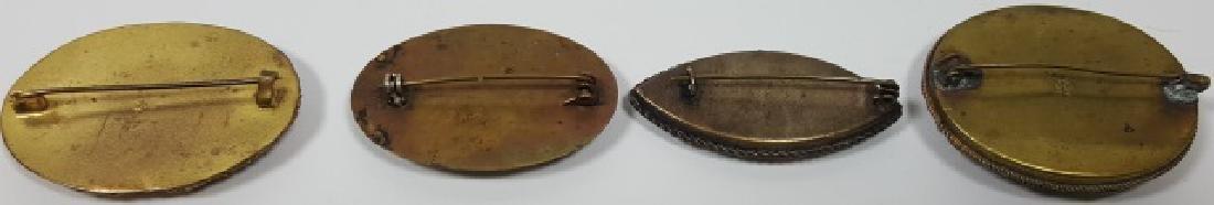 *4 MICRO MOSAIC OVAL PINS - 2