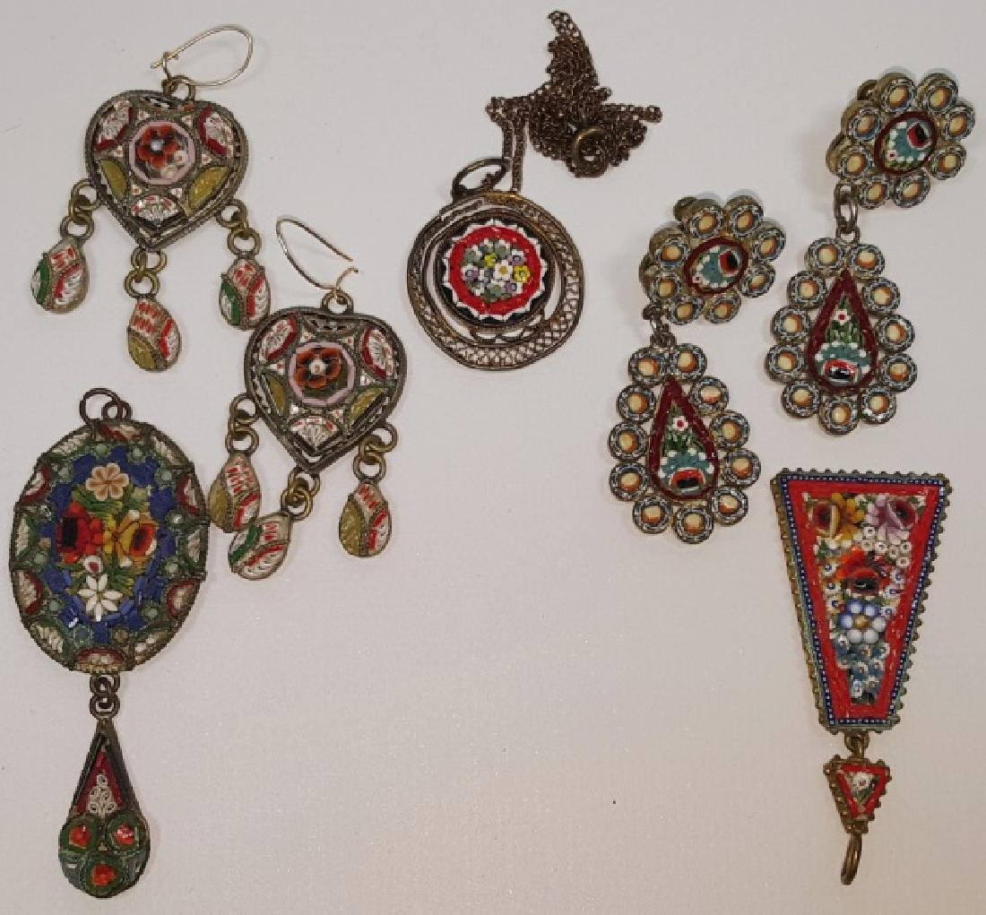 *7 PIECES OF MICRO MOSAIC JEWELRY