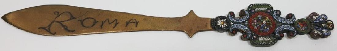 *MICRO MOSAIC AND BRASS LETTER OPENER