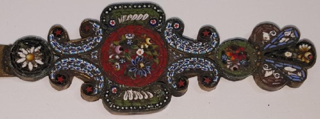 *MICRO MOSAIC AND BRASS LETTER OPENER - 2