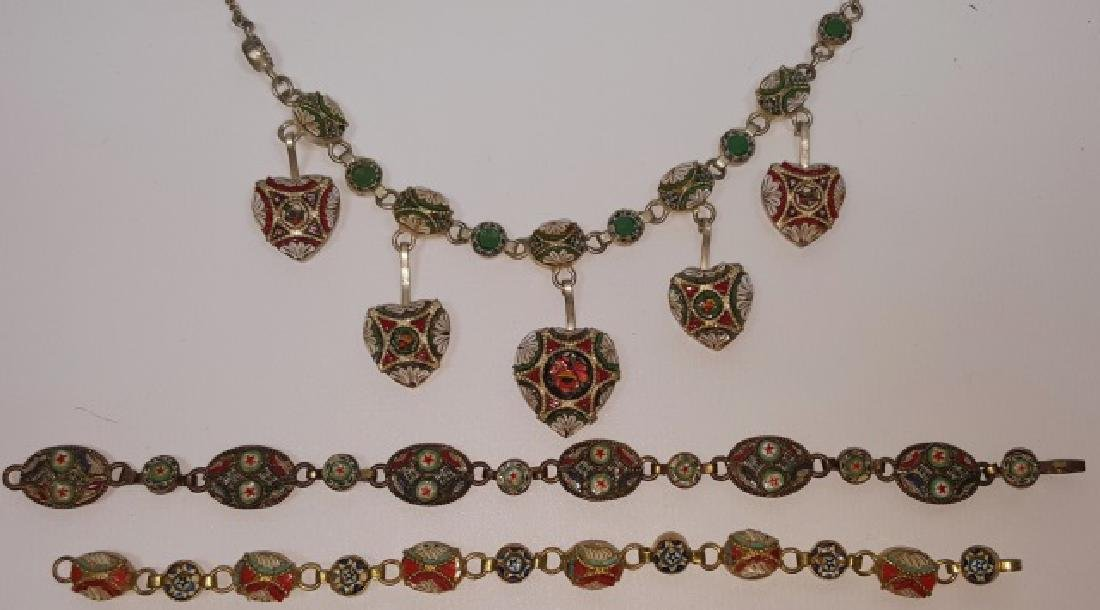 *3 PIECES OF MICRO MOSAIC JEWELRY