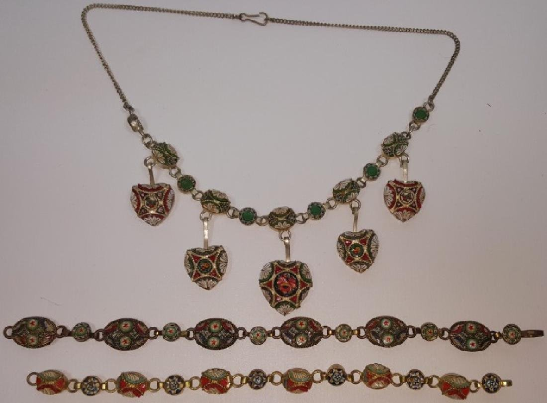 *3 PIECES OF MICRO MOSAIC JEWELRY - 2