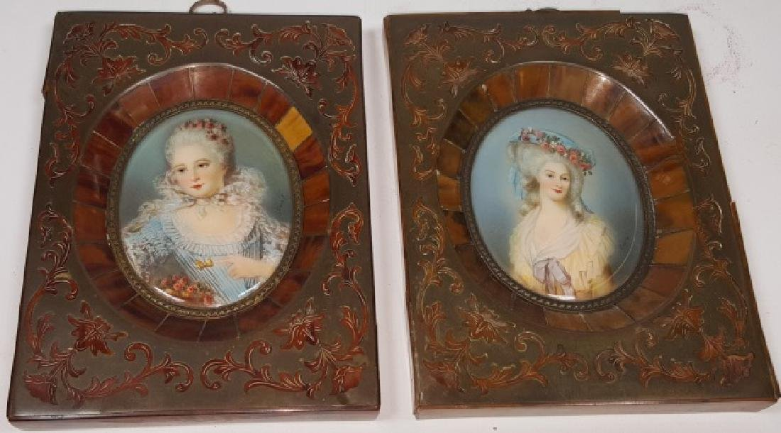 *PAIR OF MINIATURE PORTRAITS