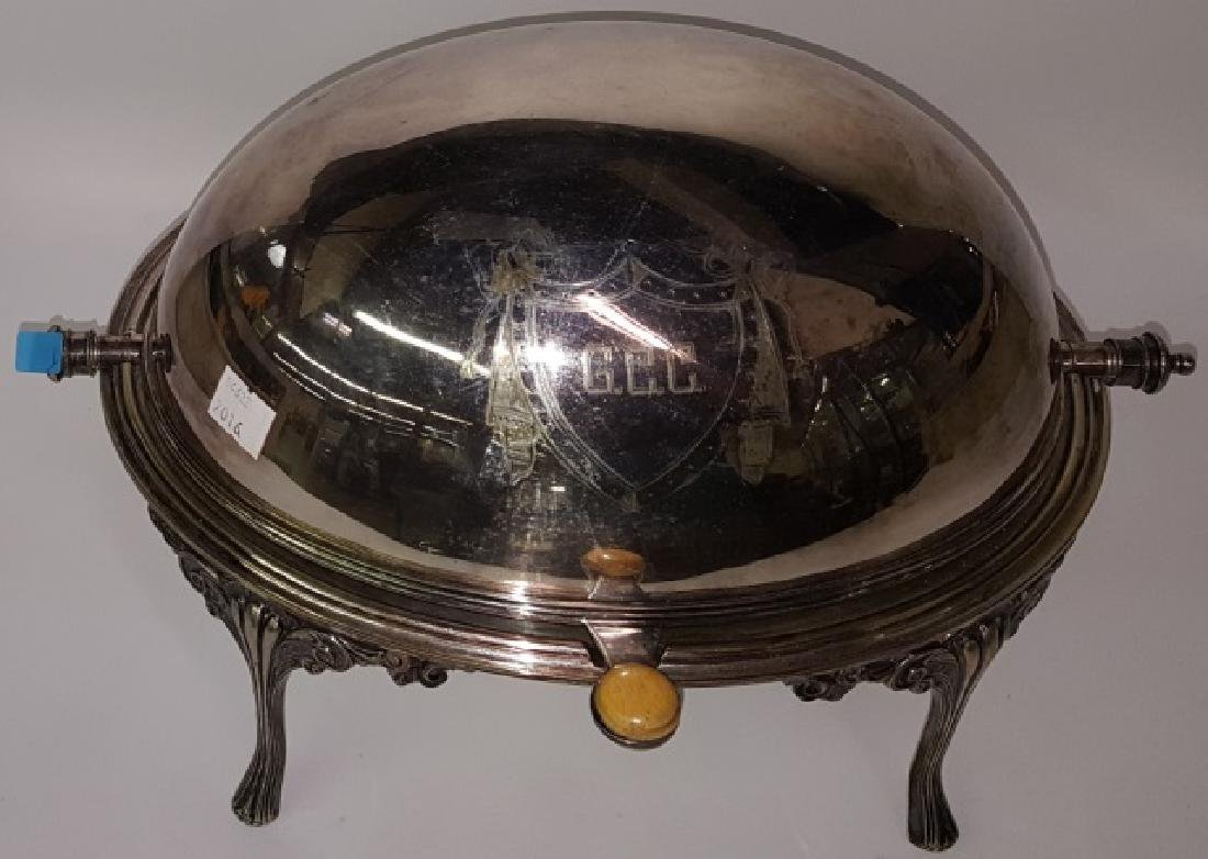 *VICTORIAN SILVERPLATED SERVING DISH