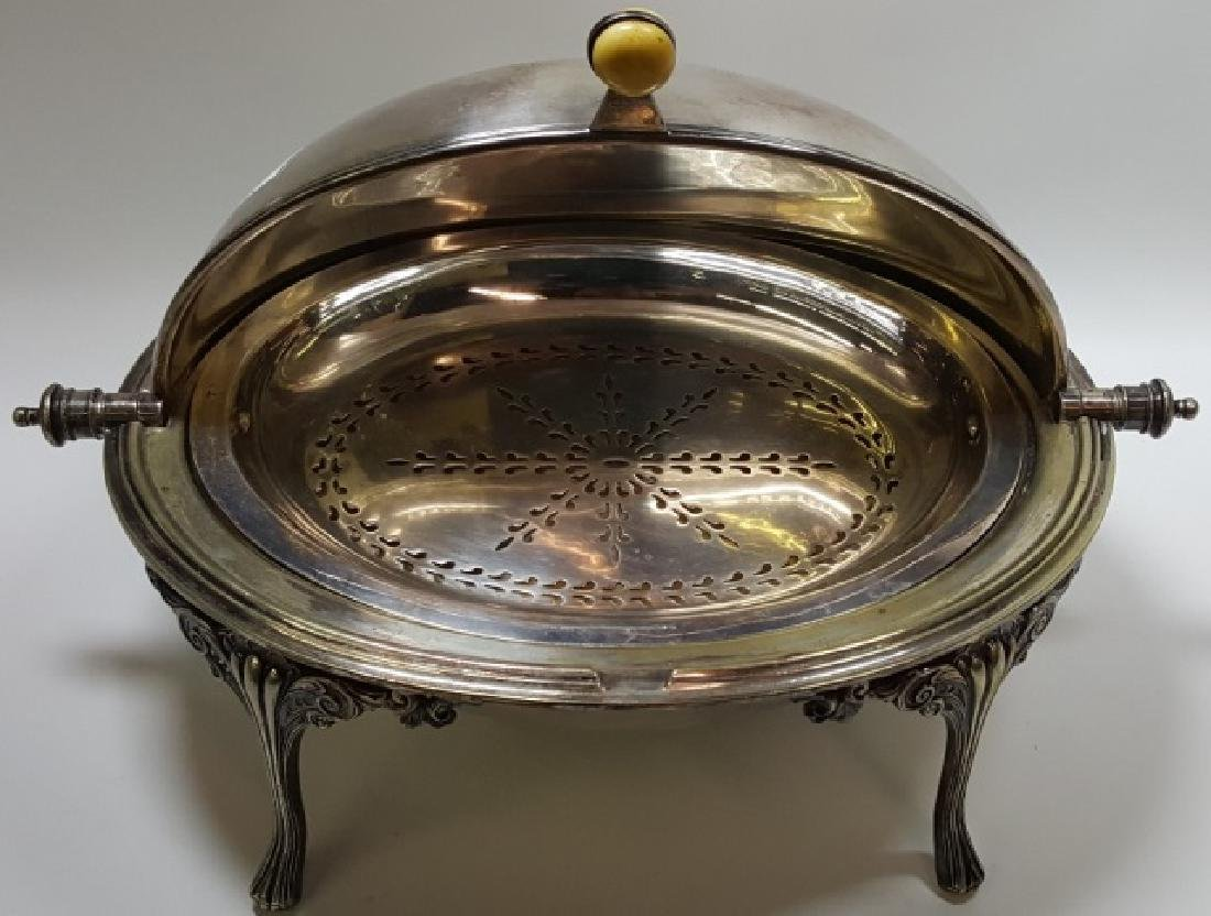 *VICTORIAN SILVERPLATED SERVING DISH - 2