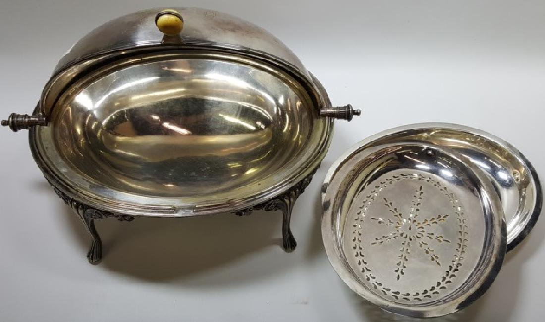 *VICTORIAN SILVERPLATED SERVING DISH - 3