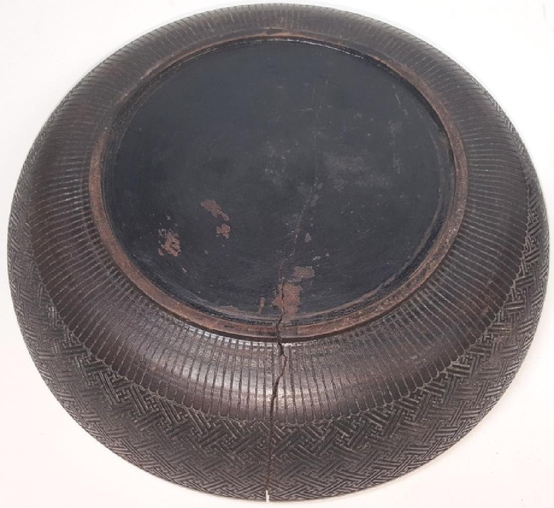 *CHINESE COVERED WOOD BOWL - 4