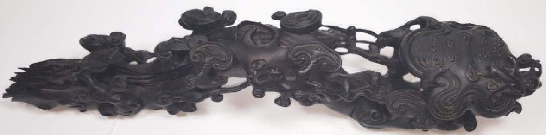 *CHINESE CARVED WOOD SCEPTER