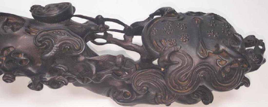 *CHINESE CARVED WOOD SCEPTER - 2