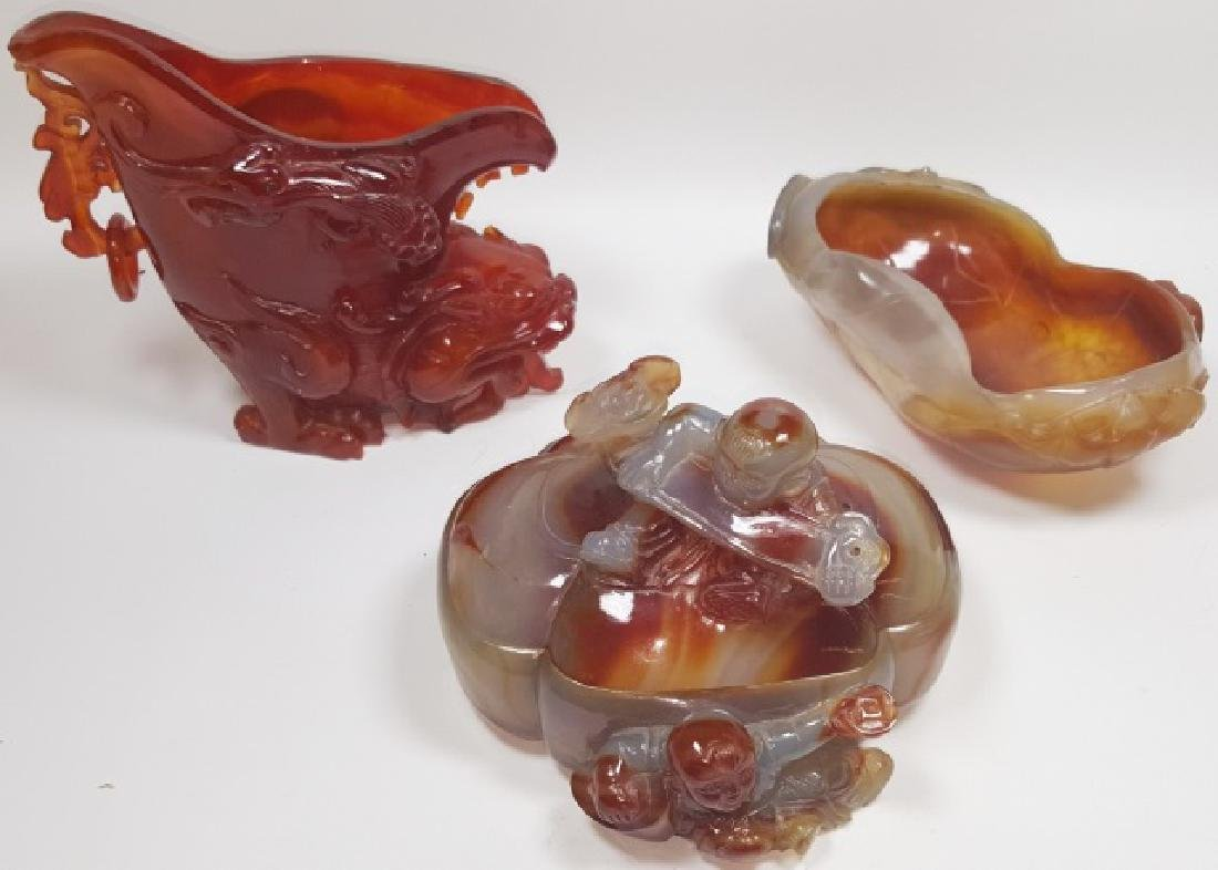 *3 PIECES CHINESE HARDSTONE