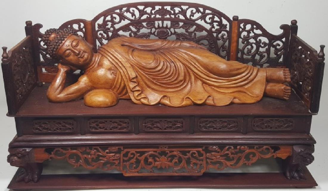 *CHINESE CARVED WOOD SCULPTURE