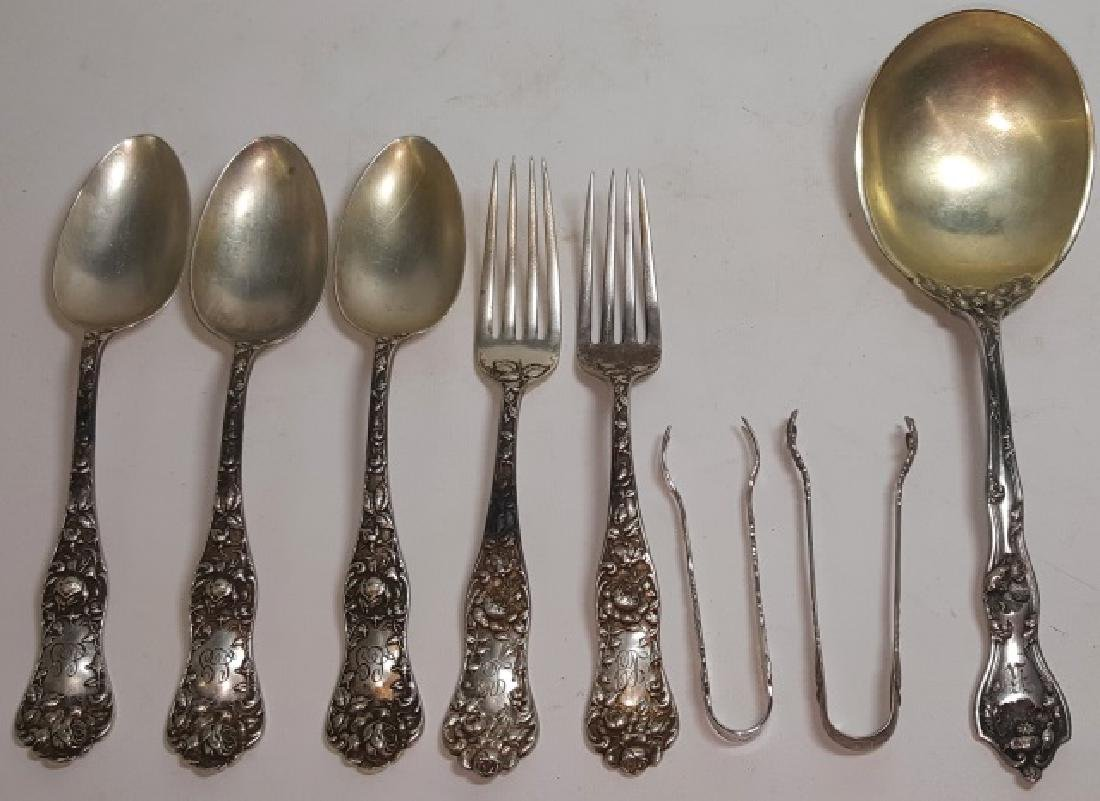 *8 PIECES OF STERLING SILVER FLATWARE