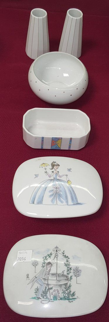 *6 PIECES OF ROSENTHAL PORCELAIN