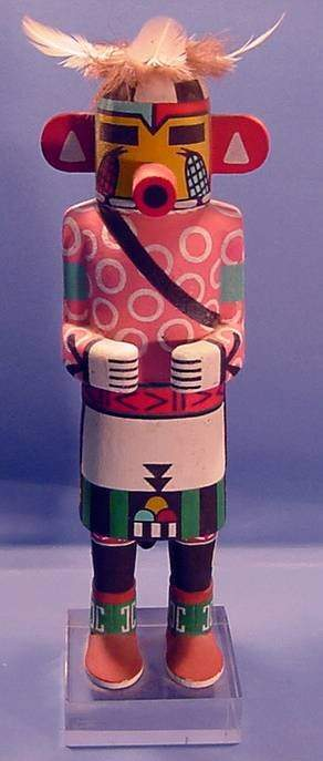 ***QA'O KACHINA| Carved and painted in standing p