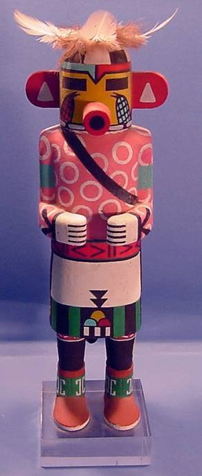 2005: ***QA'O KACHINA| Carved and painted in standing p