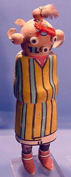 ***MUDHEAD OGRE KACHINA| Carved and painted in st