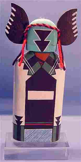***CROW BRIDE KACHINA| With yarn and painted deco