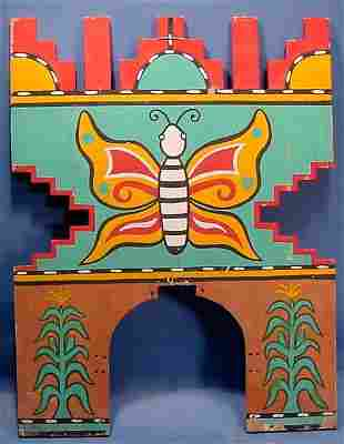 ***BUTTERFLY DANCE TABLITA| Carved of wood and pa
