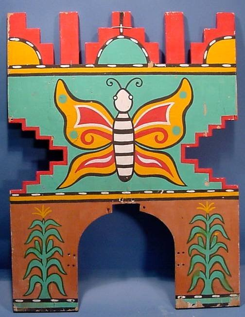 2022: ***BUTTERFLY DANCE TABLITA| Carved of wood and pa