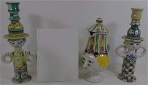3 PIECES OF BJORN WIINBLAD ART POTTERY