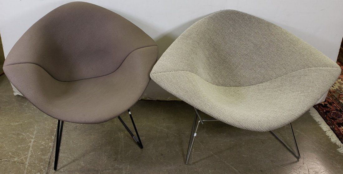 *2 PAIR OF HARRY BERTOIA FOR KNOLL BUTTERFLY CHAIRS