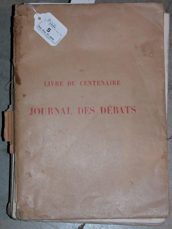 5: ***LE LIVRE DU JOURNAL DES DEBATS  Paris 1889, 1789-