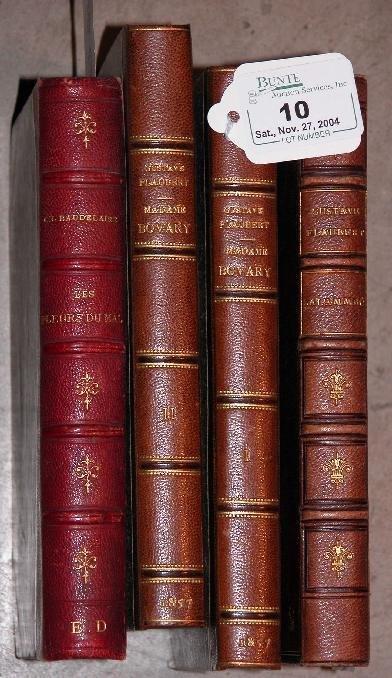 10: ***BAUDELAIRE-FLEURS DU MAL  Paris 1882, VG; Flaube