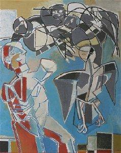 1261: ***GILOT, FRANCOISE| (b. 1921 French) ''Combat