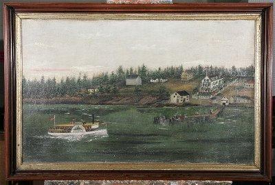 1466: ***UNKNOWN ARTIST| Peaks Island Maine, steamboat