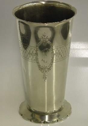 ***WATSON STERLING SILVER VASE| Having engraved f