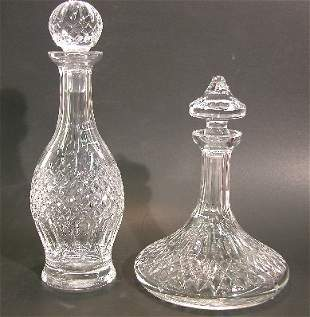 ***TWO WATERFORD CRYSTAL DECANTERS| Both signed W