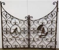 *VINTAGE WROUGHT IRON GATE