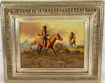*FRANK MCCARTHY OIL PAINTING