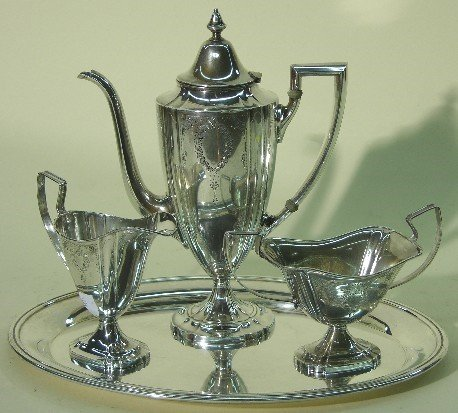 2001: ***WEBSTER CO. STERLING SILVER FOUR PIECE COFFEE