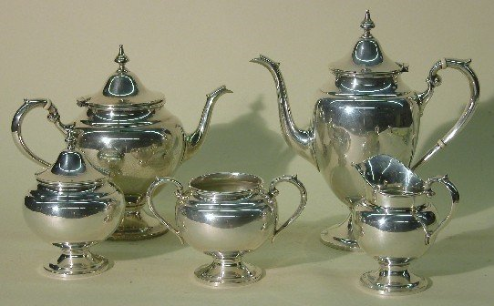 2002: ***SIX PIECE STERLING SILVER COFFEE AND TEA SERVI