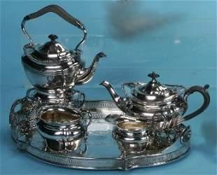 ***FOUR PIECE SILVERPLATE COFFEE AND TEA SERVICE 