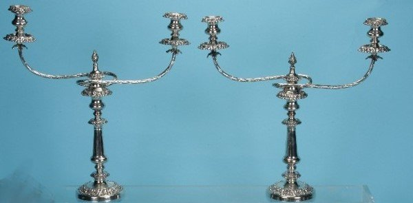 2006: ***PAIR OF SILVERPLATE CANDELABRA| Height 18 1/4'