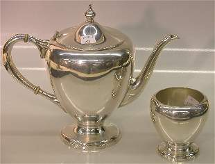 ***TWO PIECES OF FISHER STERLING SILVER  Coffee s