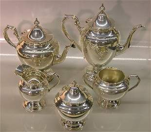 ***FIVE PIECE GORHAM STERLING SILVER COFFEE AND T