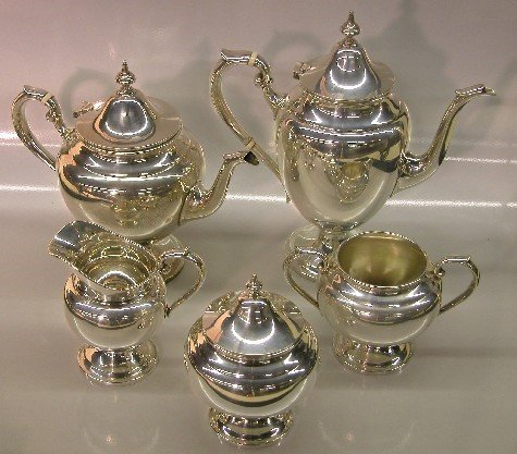 2010: ***FIVE PIECE GORHAM STERLING SILVER COFFEE AND T
