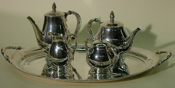 2011: ***INTERNATIONAL FOUR PIECE STERLING SILVER TEA A