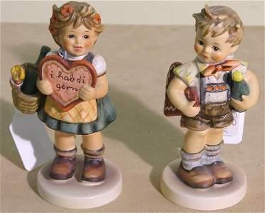 2110: ***TWO HUMMEL FIGURES  ''Valentine Gift'',#387, T