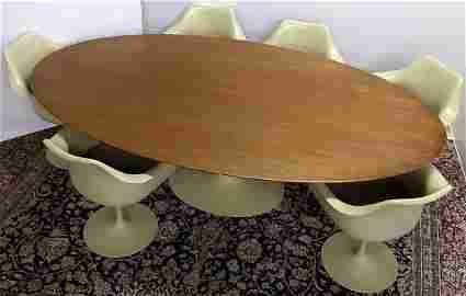 *AERO SAARINEN FOR KNOLL TULIP TABLE & CHAIRS