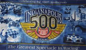 2011 INDY 500 100TH ANNIVERSARY FLAG/BANNER