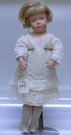 8: ***SCHOENHUT DOLL| Having painted features with inta