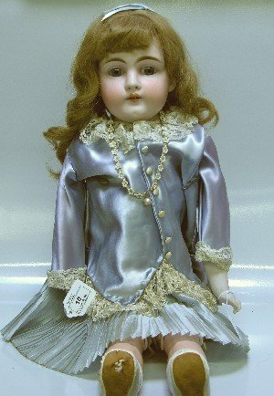 10: KESTNER BISQUE HEAD DOLL| Having open mouth with te