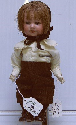 12: ARMAND MARSEILLE BISQUE HEAD DOLL| Having open mout
